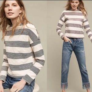 Anthropologie eri + ali Saborie striped sweatshirt